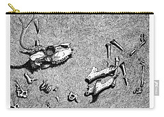 Carry-all Pouch featuring the drawing Deer Bones by Daniel Reed