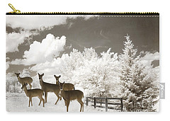 Deer Nature Winter - Surreal Nature Deer Winter Snow Landscape Carry-all Pouch