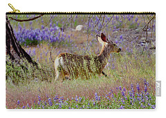 Deer In The Meadow Carry-all Pouch by Debby Pueschel