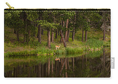 Deer In The Mist Carry-all Pouch by Steven Reed
