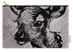 Deer On Burlap Carry-all Pouch