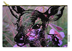 Deer On Flower Carry-all Pouch