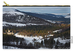 Carry-all Pouch featuring the photograph Deeside By Balmoral Castle In Winter by Phil Banks