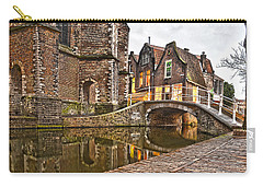 Carry-all Pouch featuring the photograph Delft Behind The Church by Frans Blok