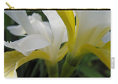 Carry-all Pouch featuring the photograph Delicate Iris by Cheryl Hoyle