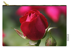 Carry-all Pouch featuring the photograph Delicate Opening  by Denyse Duhaime