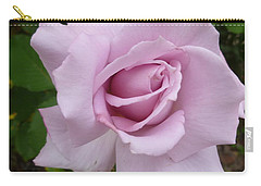 Carry-all Pouch featuring the photograph Delicate Purple Rose by Lingfai Leung