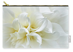 Delicate White Softness Carry-all Pouch
