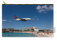 Delta 737 St. Maarten Landing Carry-all Pouch by David Gleeson