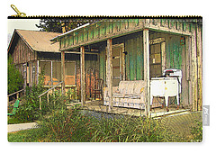 Delta Sharecropper Cabin - All The Conveniences Carry-all Pouch by Rebecca Korpita