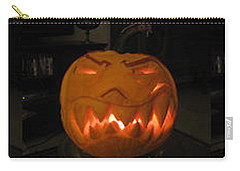 Demented Mister Ullman Pumpkin 2 Carry-all Pouch by Shawn Dall