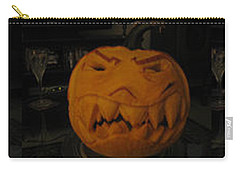 Carry-all Pouch featuring the sculpture Demented Mister Ullman Pumpkin 3 by Shawn Dall