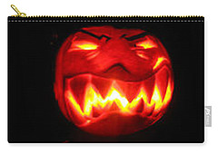 Carry-all Pouch featuring the sculpture Demented Mister Ullman Pumpkin by Shawn Dall