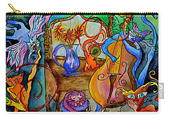 Demon Cats Carry-all Pouch by Beverley Harper Tinsley