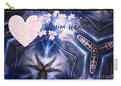 Denim Heart Carry-all Pouch