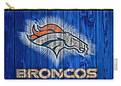Denver Broncos Barn Door Carry-all Pouch by Dan Sproul