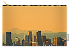 Carry-all Pouch featuring the photograph Denver Skyline by Colleen Coccia