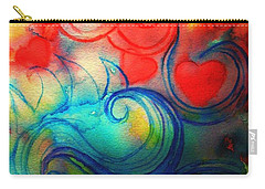 Carry-all Pouch featuring the painting Depths Of His Love by Hazel Holland