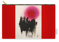Carry-all Pouch featuring the painting Depu To Usugurai Mori by Roberto Prusso