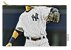 Derek Jeter Carry-all Pouch by Florian Rodarte