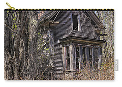 Carry-all Pouch featuring the photograph Derelict House by Marty Saccone