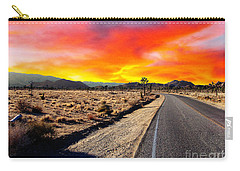 Carry-all Pouch featuring the photograph Desert Aglow by Glenn McCarthy Art and Photography