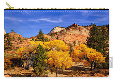 Carry-all Pouch featuring the photograph Desert Autumn by Greg Norrell