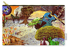 Carry-all Pouch featuring the mixed media Desert Blues by Ally  White