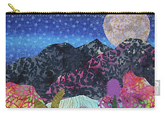 Carry-all Pouch featuring the tapestry - textile Desert Dreaming by Ellen Levinson