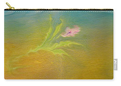 Carry-all Pouch featuring the painting Desert Flower by Mike Breau