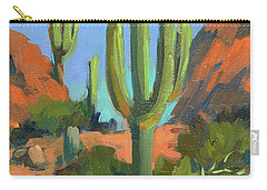 Desert Morning Saguaro Carry-all Pouch by Diane McClary