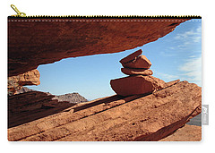 Carry-all Pouch featuring the photograph Desert Signpost by Alan Socolik