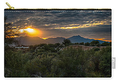 Carry-all Pouch featuring the photograph Desert Sunset by Dan McManus