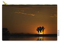Carry-all Pouch featuring the photograph Desert Sunset by Lynn Geoffroy