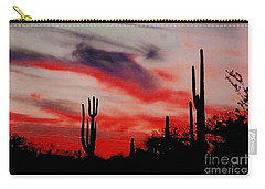 Desert Sunset Northern Lights Version 3 Carry-all Pouch by Joseph Baril