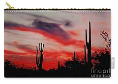 Desert Sunset Northern Lights Version 3 Carry-all Pouch