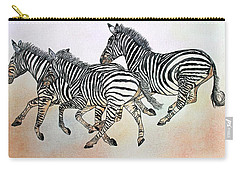 Desert Zebras Carry-all Pouch by Janet Immordino