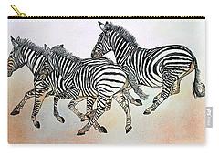 Desert Zebras Carry-all Pouch