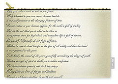 Desiderata 2 Carry-all Pouch