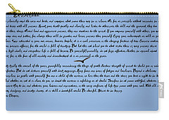 Desiderata Carry-all Pouch by Bill Cannon