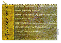 Desiderata Ll Carry-all Pouch