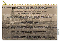 Desiderata Nashville Carry-all Pouch by Dan Sproul