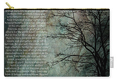 Desiderata Of Happiness - Vintage Art By Jordan Blackstone Carry-all Pouch