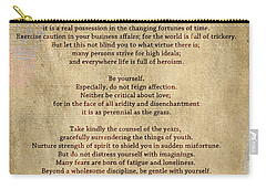 Desiderata - Scrubbed Metal Carry-all Pouch
