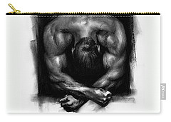 Carry-all Pouch featuring the drawing Despondent by Paul Davenport