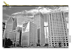 Detroit Black And White Carry-all Pouch by Frozen in Time Fine Art Photography