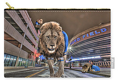 Detroit Lions At Ford Field Carry-all Pouch by Nicholas  Grunas
