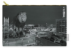 Detroit Lions Carry-all Pouch by Nicholas  Grunas