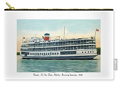 Detroit - Ss Sainte Claire - Boblo - Browning Steamship - 1938 Carry-all Pouch