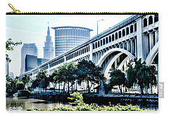 Carry-all Pouch featuring the photograph Detroit-superior Bridge - Cleveland Ohio - 1 by Mark Madere